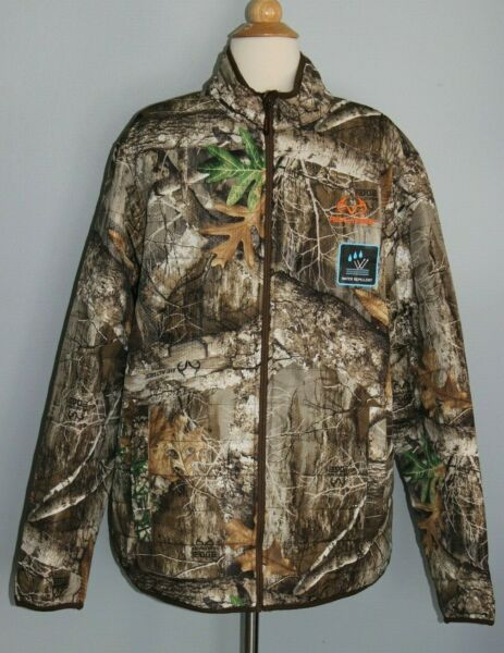 NEW Men#x27;s REALTREE Edge Puffer Jacket Hunting Camo Water Repellent M L XL 3XL