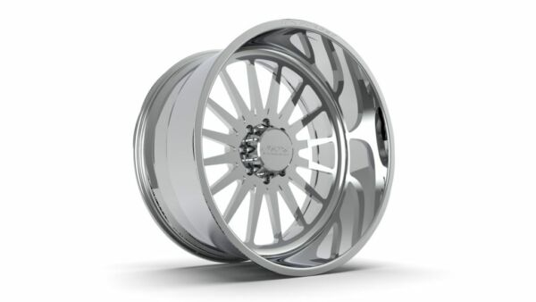 (4) 26x16 JTX Forged Polished Silencer Wheels For Chevy GMC Ford Dodge Toyota
