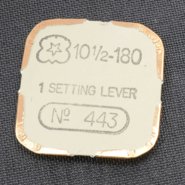 VENUS 180 PART 443 SETTING LEVER WATCH PART NOS 10 12 NEW OLD STOCK