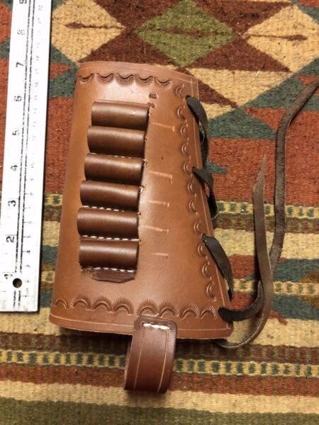 30 30 Win Caliber Leather Ammo Cartridge Rifle Stock Buttstock Cover Holder Used