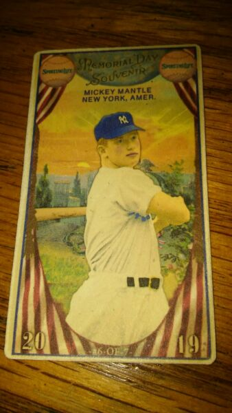 2019 The Sporting Life Mickey Mantle T-Size Memorial Day Card! Rare!