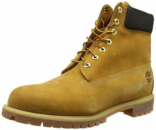 Timberland Mens 6 inch Waterproof BootWheat Nubuck8 W US Damaged Box $99.99