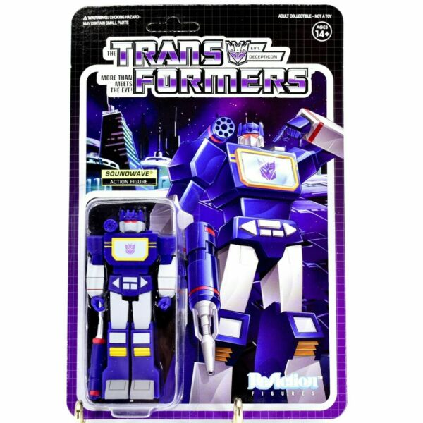 Soundwave Transformers Super 7 ReAction Action Figure New