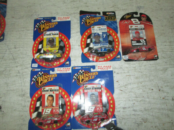Lot of 5 Winner#x27;s Circle 1:64 Die Cast Pit Pass Nascar NIP