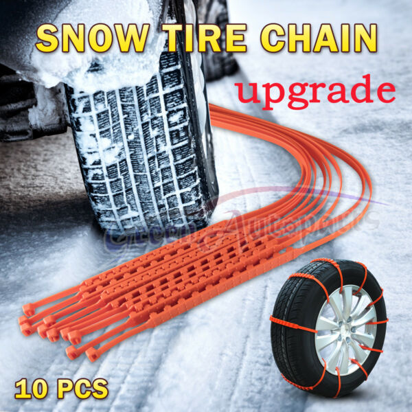 10 PCS Snow Tire Chain for Car Truck SUV Anti-Skid Winter Driving Upgrade 12mm