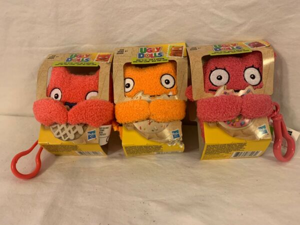 3x Hasbro Ugly Dolls Lucky Bat Wage And Moxy To-Go Stuffed Plush Toy 5