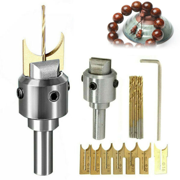 Buddha Beads Ball Router Bit Wooden Bead Maker Beads Drill Bit Cutter Tools USA