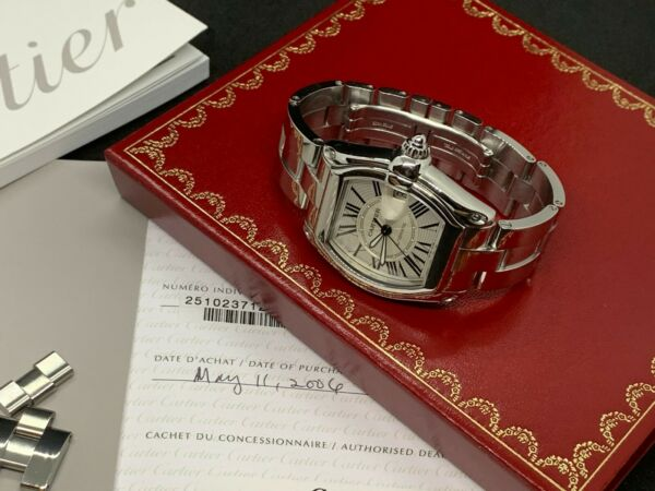 Cartier Roadster 2510 large Automatic Stainless Steel Watch with papers  $2,900.00