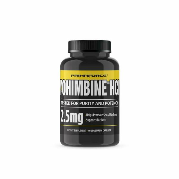 PrimaForce Yohimbine HCl 2.5mg Capsules Weight Fat Loss Supplement 90 Count
