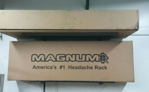 Magnum back rack Low Pro Window cutout lightsstrobes. New in box.Gmc Chevrolet