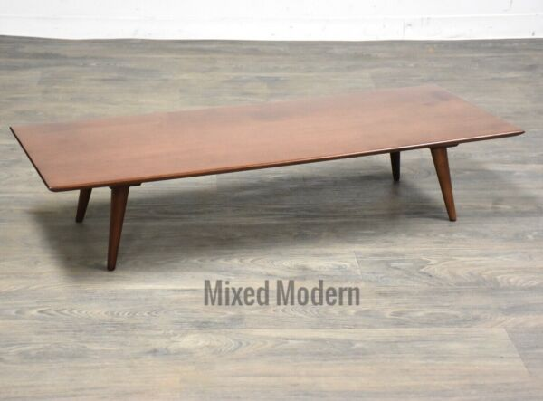 Paul McCobb Planner Group Coffee Table Bench Mid Century Modern Solid Maple