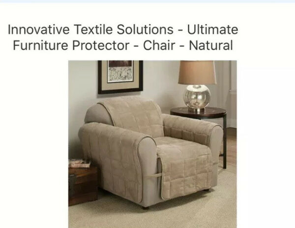 Innovative Textile Solutions Ultimate Furniture Protector Chair Natural $12.99