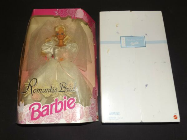 A PAIR OF WEDDING BARBIES DOLLS ROMANTIC & BLUSHING BRIDE