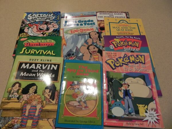 LOT 10 Chapter Books Reading Level 1 - 2 - 3 Pokemon Harry Marvin Underpants
