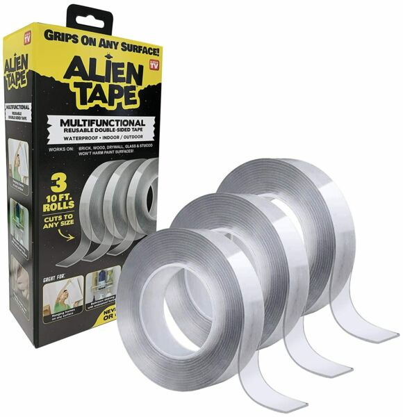 Alien Tape Multi Functional Reusable Transparent Double Sided Mounting Tape $19.99
