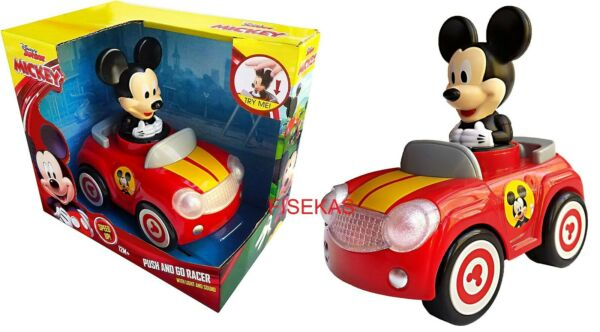 Disney Junior Mickey Mouse Red Car Push and Go Racer w Light & Sound 12 m+ NEW
