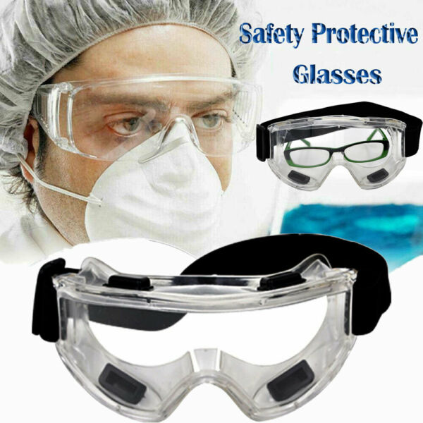 Safety Goggles Over Glasses Lab Work Eye Protective Eyewear Clean Lens 1-10 MD