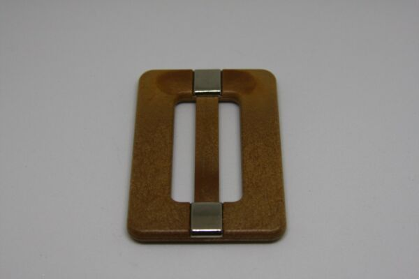 Woman`s wood color wood material Italy belt buckle $4.99