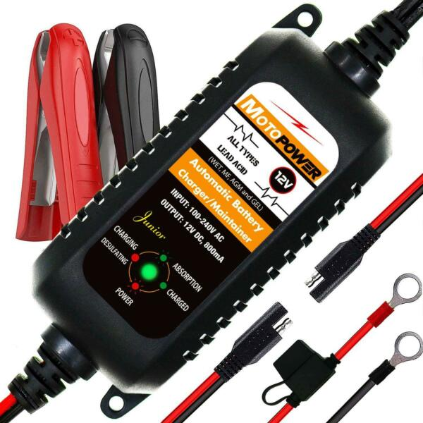 MOTOPOWER Car Auto Motorcycle Battery Charger Maintainer 12V 800mA $26.12