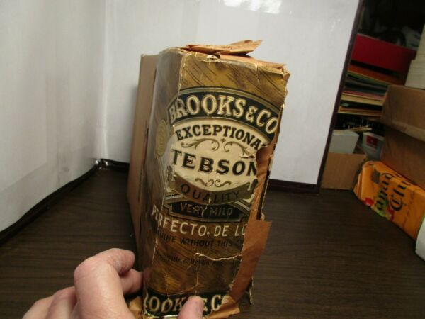 500 Vintage Cigar Box Labels Factory Sealed - BROOKS & Co. - TEBSON PERFECTO