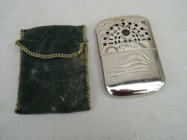 Vintage Peacock Hand Warmer With Cloth Pouch Used Made in Japan 4