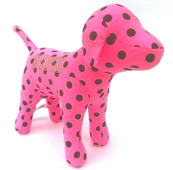 VICTORIAS SECRET PINK POLKA DOT DOG LARGE SIZE LIMITED EDITION 10quot;x13quot; Brand New $49.75