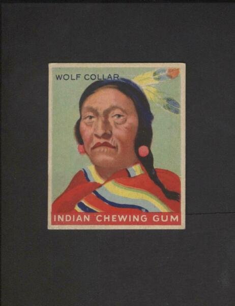 1947 Goudey Indian Gum Black Back #93 Wolf Collar NO Creases $49.99