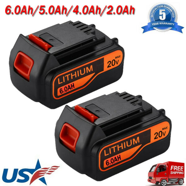 6.0Ah for Black amp; Decker LBXR20 20V Lithium Battery LB2X4020 LB20 LBXR20 OPE NEW