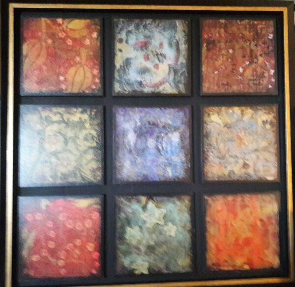 Turning Seasons  by John Douglas; Original Mixed Media on Canvas  34