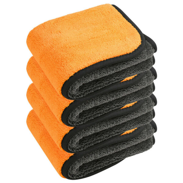 4Pcs Extremely Thick Plush 850GSM Microfiber Cleaning Towels Polishing Detailing $16.89