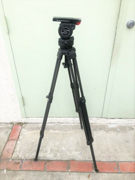 SACHTLER PROFESSIONAL BLACK TRIPOD WITH DV 2 II FLUID HEAD