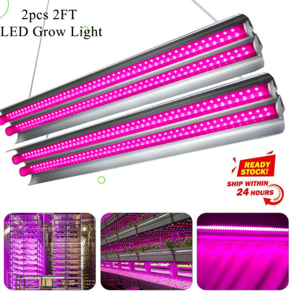 2 X 2000W Plant LED Grow Light T5 Tubes Full Spectrum Indoor Flower Growing Lamp