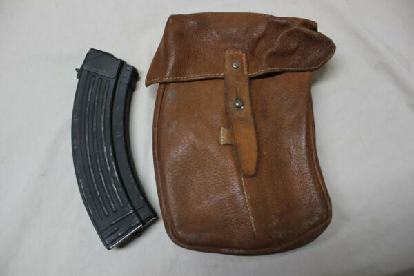 2 Czechoslovakian Military 7.62x39 4 Cell Magazine Pouch for 30 Round Magazines