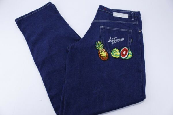 Iceberg Ice Jeans Pineapple Watermelon Embroidered Patch 35 x 39.5 Made in Italy $15.29