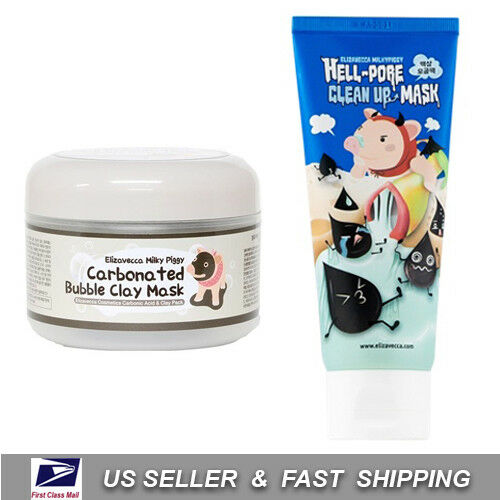 ELIZAVECCA Carbonated Bubble Clay Hell Pore Clean Up Mask Free Sample $20.98