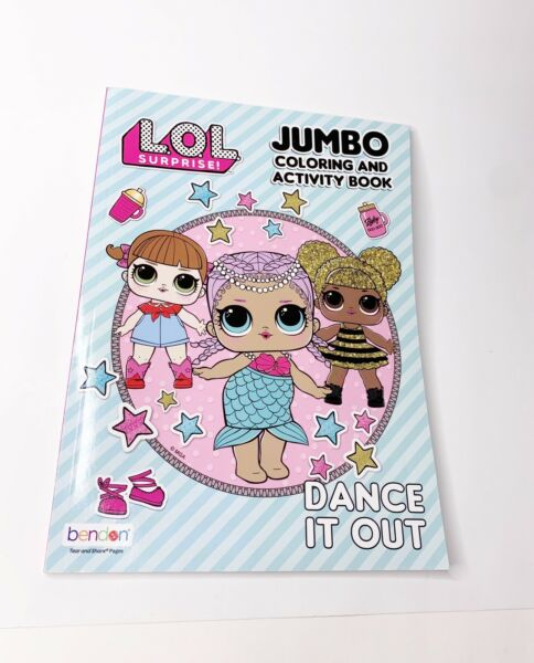 Bendon LOL Surprise! Jumbo Coloring and Activity Book Dance It Out 80 Pages Fun