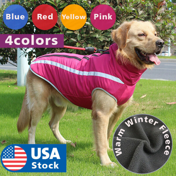 Waterproof winter dog warmer coat Vest jacket dog warm clothes padded Large dogs $9.79