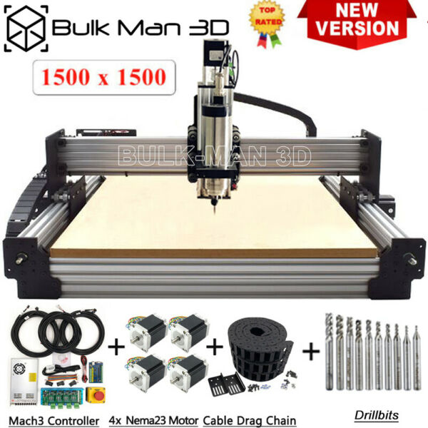 1515 Newest Version 4Axis Work Bee CNC Router Machine Kit Mach3 USB Controller $1280.00
