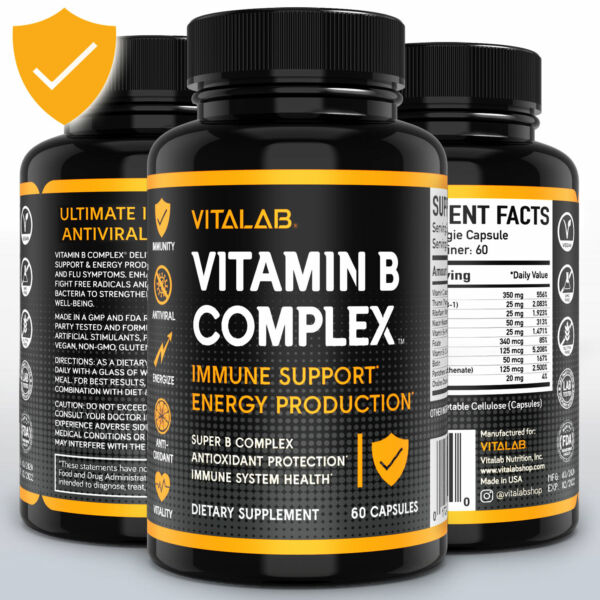 Vitamin B Complex Sustained Release Vitamin B1 B2 B3 B6 B12 High Potency