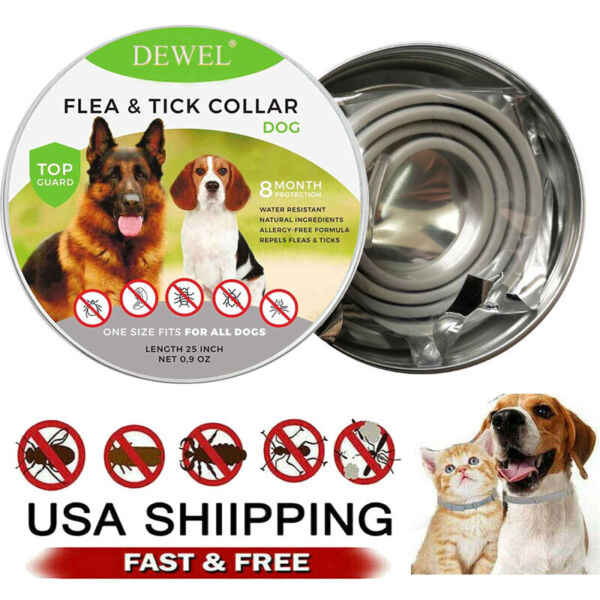 Dewel Cheaper than Seresto Flea Tick Control Collar FOR Small Large Dog 8 Month $11.99