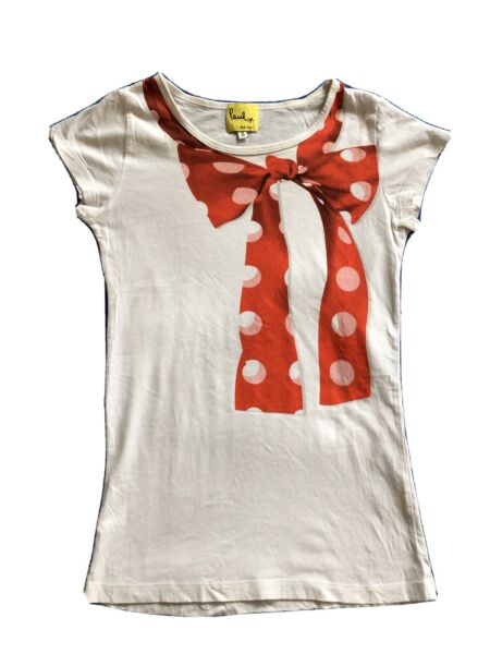 PAUL SMITH BOW KNOT FITTED TEE-SHIRT COTTON SIZE XS