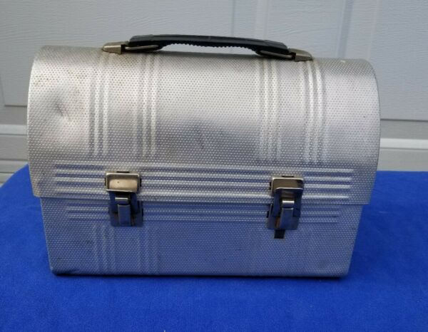 VTG Aluminum Steelmill workers Lunchbox Pail Dome Lid Great PROP!