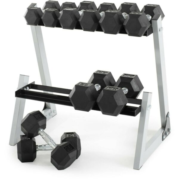 Weider Hex Dumbbell Pairs 10 15 20 25 30 Rack IN STOCK SHIPS NOW! Gold's