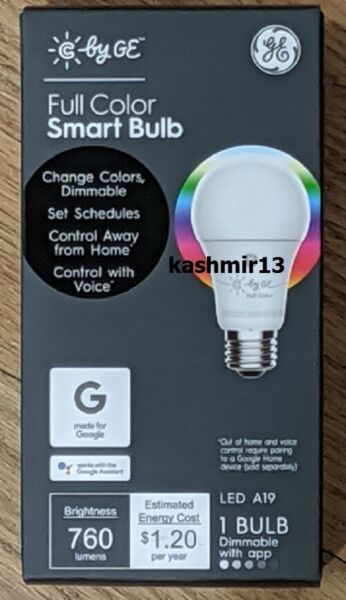 C by GE - A19 Bluetooth Smart LED Light Bulb - Multicolor