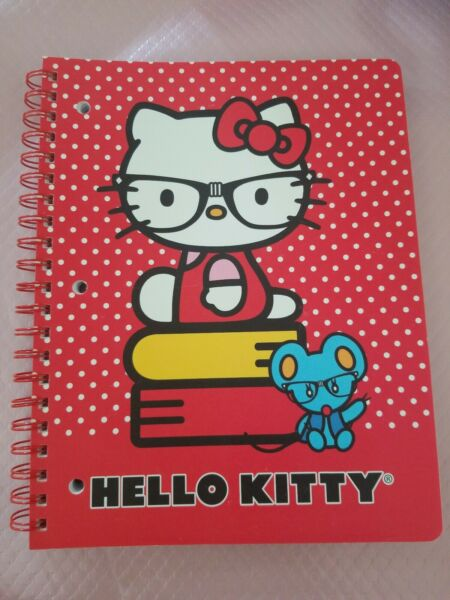 HELLO KITTY BY SANRIO 1 SUBJECT NOTEBOOK JOURNAL 11x8.5 PERFORATED 3HOLE