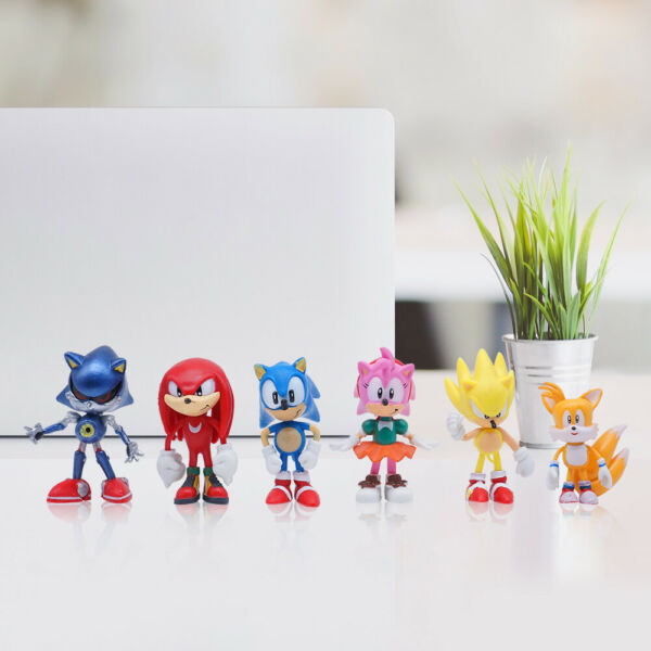 6PCS Sonic The Hedgehog Action Figure Toy Set Collection Kids Toy USA SELLER