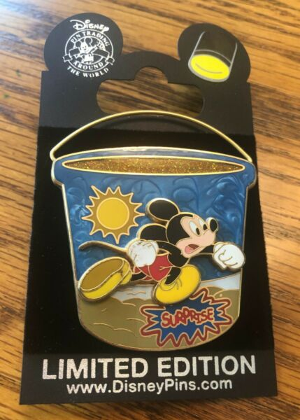 Disney Pin Surprise Mickey Mouse Beach Bucket Pail 3D Limited Edition