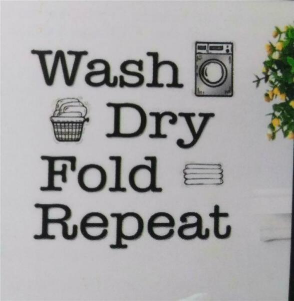 Charming Laundry Room Wall or Washer Decal*Peel & Stick*Removable*Translucent
