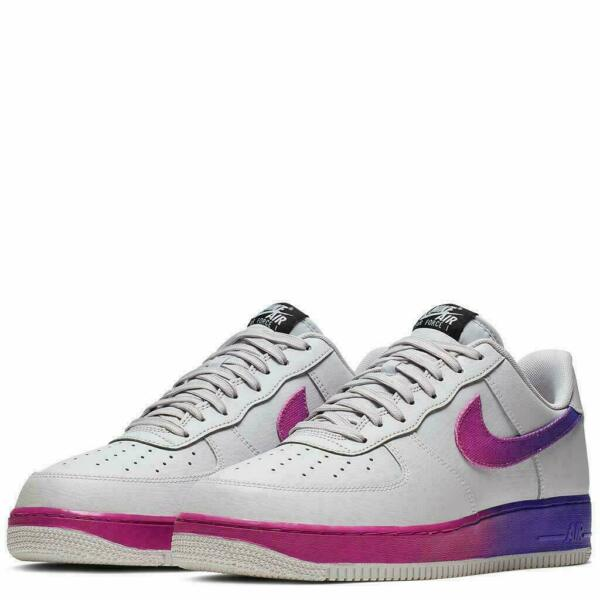 Nike Air Force 1 '07 Low LV8 Shoes Vast Gray Hyper Grape CJ0524-002 Men's NEW