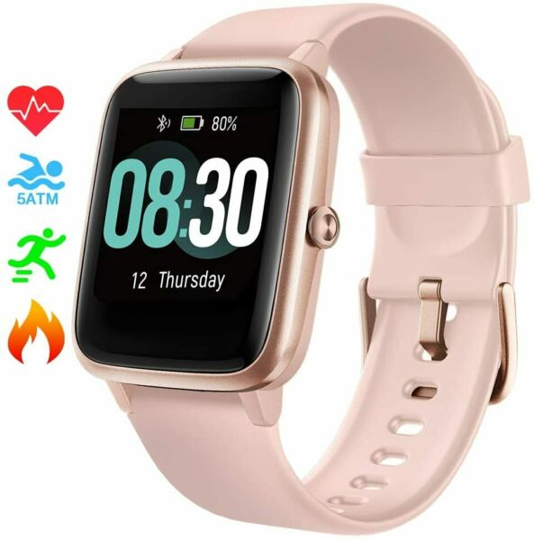 UMIDIGI Uwatch3 for Men Women Compatible with iPhone Android(Rose Gold) $29.99